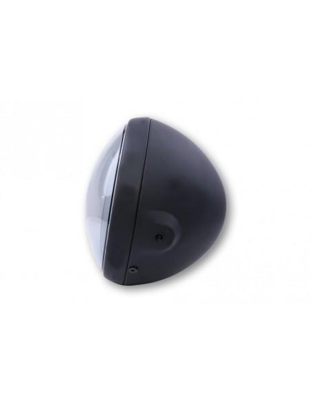 Reflektor LED Highsider BRITISH-STYLE TYP 8 z TFL i doświetlaniem zakrętów (5 funkcji, czarny)