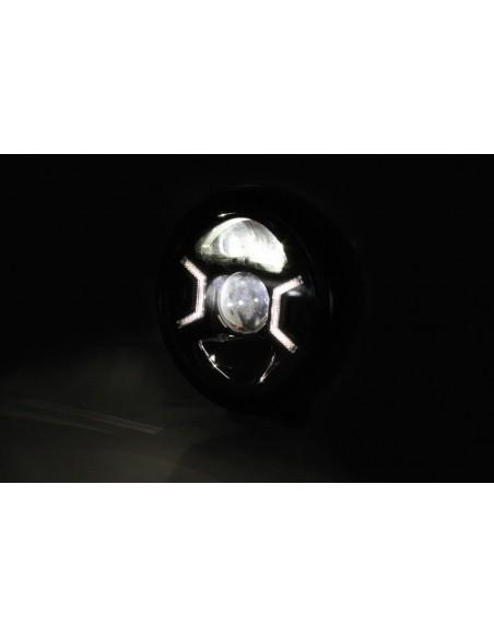 Reflektor LED Highsider HD-STYLE TYP 2 (3 funkcje, czarny)